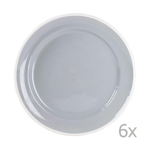 Zestaw 6 talerzy Puck 26,5 cm, szary