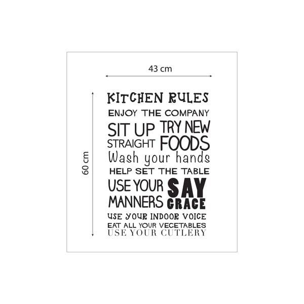 Winylowa naklejka na ścianę Kitchen Rules