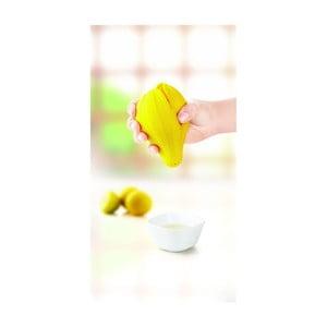 Silikonowa wyciskarka do cytryn, żółta