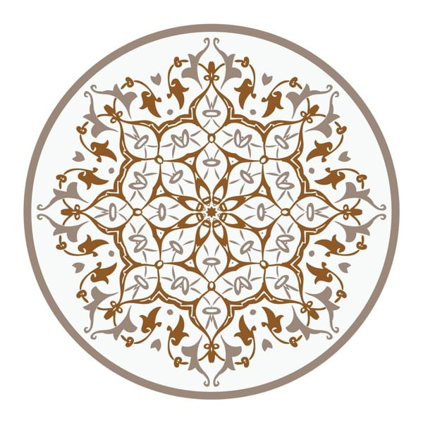 Naklejki Mandala, light brown, 4 szt