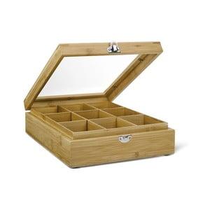 Pudełko   na herbatę z 9 przegródkami Bredemeijer Bamboo