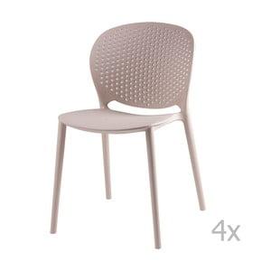 Zestaw 4 beżowych krzeseł sømcasa Betsy