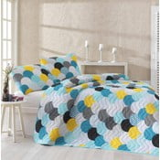 Jednoosobowa narzuta na łóżko z poszewką na poduszkę Damlan, 160x220 cm