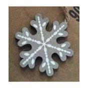 Świąteczna dekoracja wisząca w kształcie płatka śniegu Dakls Vernon