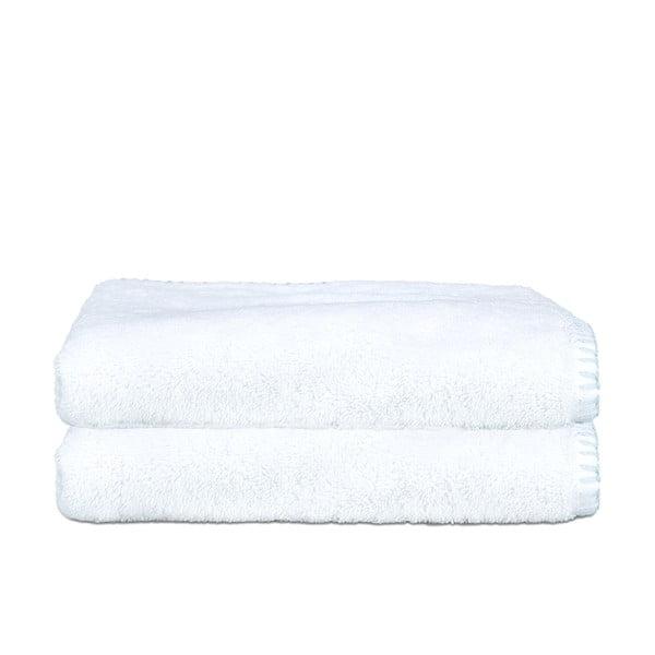 Zestaw 2 ręczników Whyte 100x150 cm, biało-niebieski