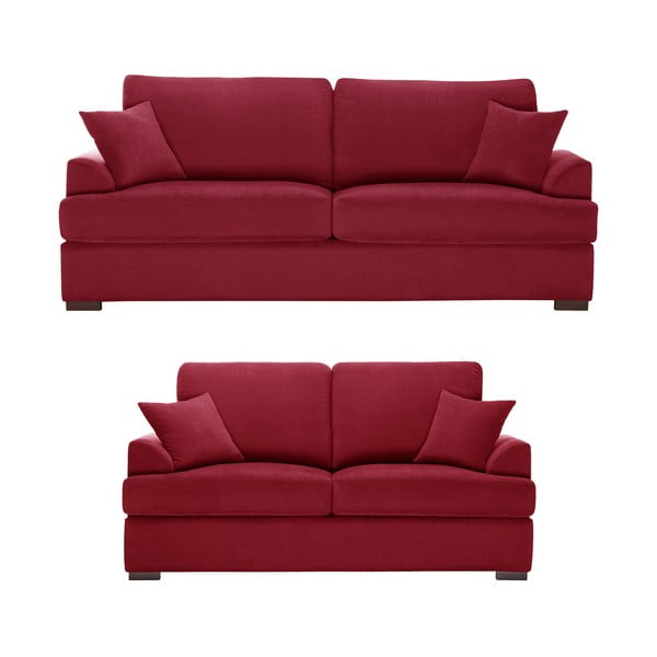 Dwuczęściowy komplet wypoczynkowy Jalouse Maison Irina, czerwony