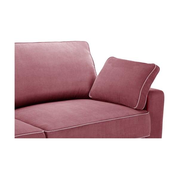 Trzyczęściowy komplet wypoczynkowy Jalouse Maison Serena, różowy