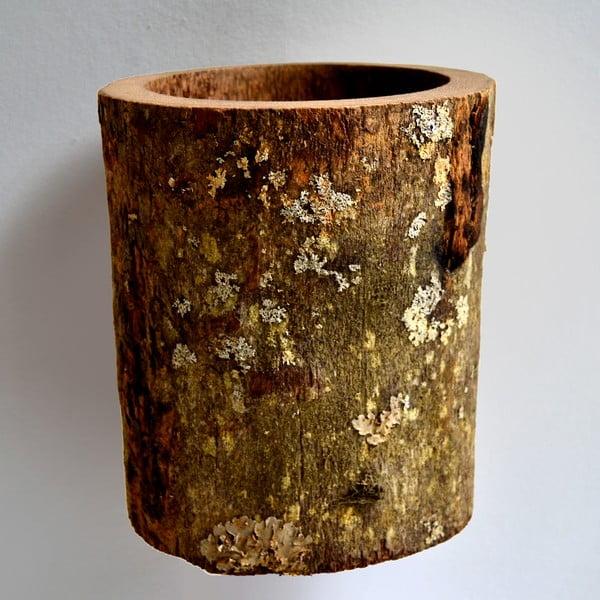 Palmowy wazon Wood, 22 cm