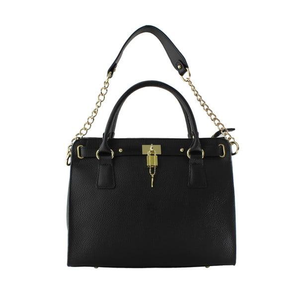 Skórzana torebka Sari, czarna