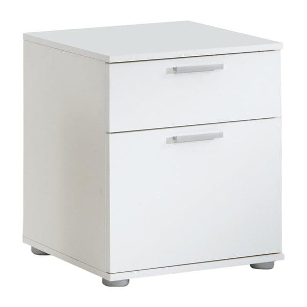 Biała szafka nocna z 2 szufladami 13Casa Jack