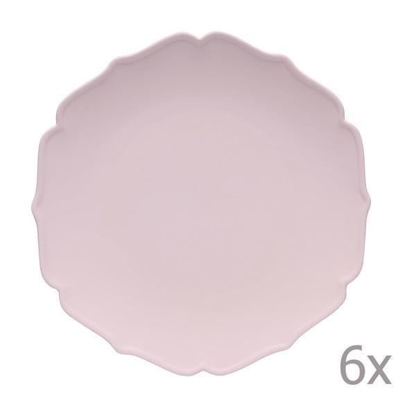 Zestaw 6 głębokich talerzy Glamour Rosa