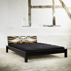Łóżko Karup Tami Rock Black/Scull, 153x213 cm