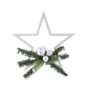 Gwiazda świąteczna w kolorze srebra Unimasa Ixia Pine
