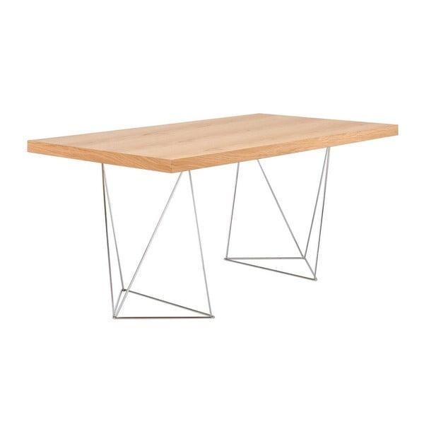 Jasnoszary stół do jadalni TemaHome Trestle, dł. 160 cm