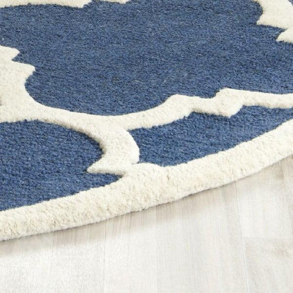 Dywan wełniany Clark Blue, 91x152 cm