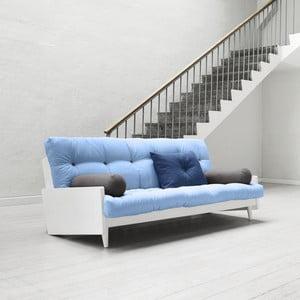 Sofa rozkładana Karup Indie White/Celeste/Gris