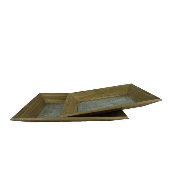 Zestaw 2 tac Wooden Antic