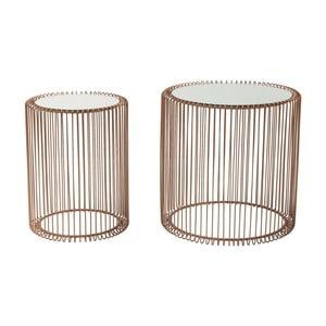 Zestaw 2 stolików Kare Design Wire Copper