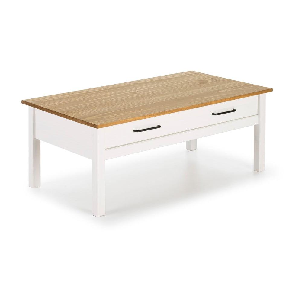 Biały drewniany stolik Marckeric Miranda