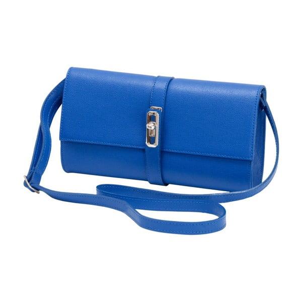 Niebieska torebka skórzana Andrea Cardone Calandra