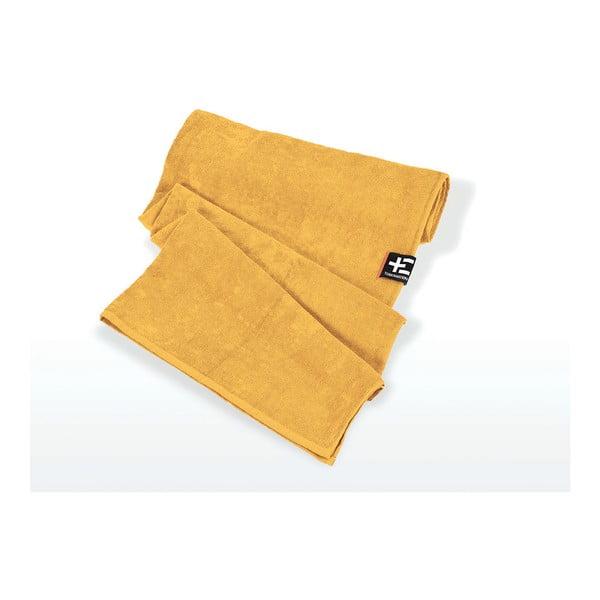 Ręcznik plażowy Kami Moe 80x160 cm, żółty