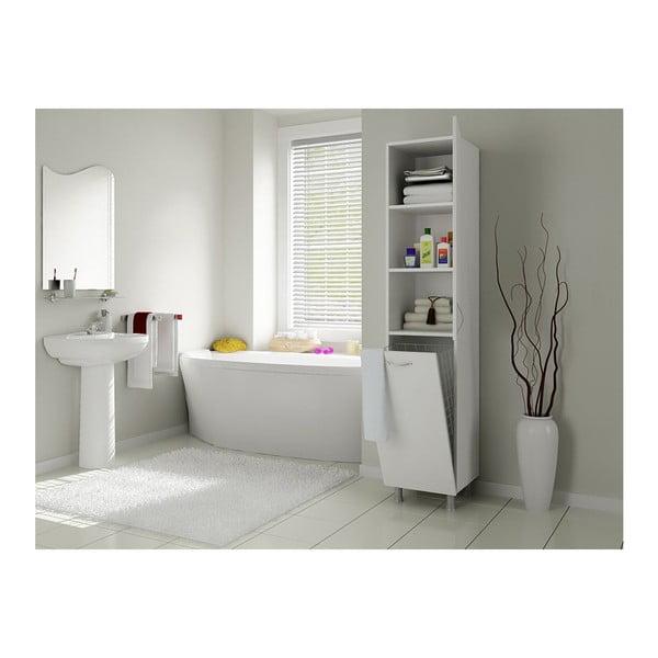 Szafka łazienkowa z koszem na pranie Mundo White