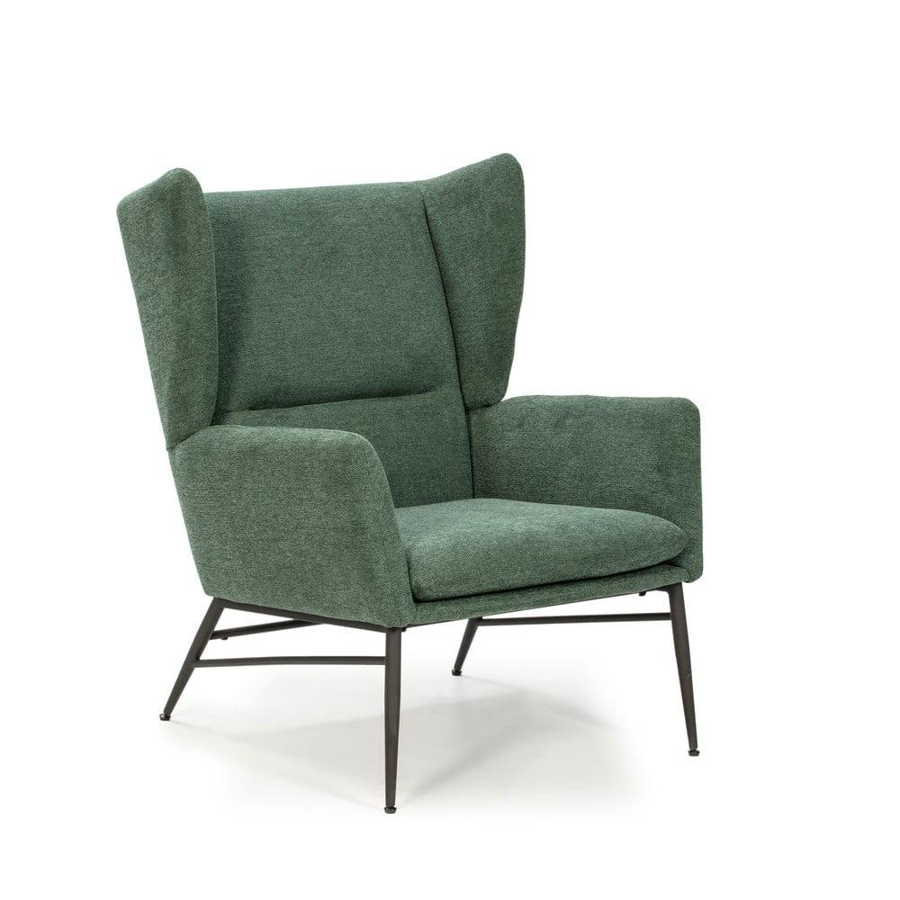 Zielony fotel Marckeric Tilly