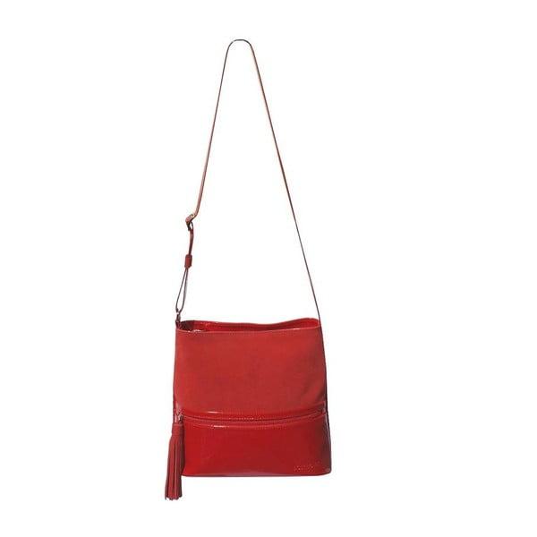 Skórzana torebka Boscollo Red 2183