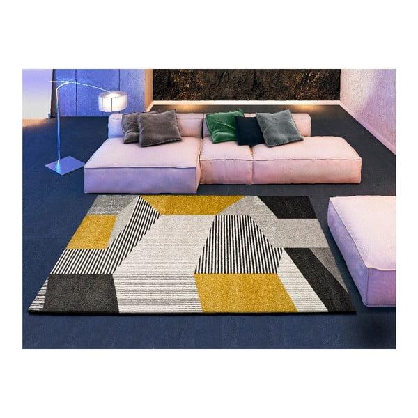 Szaro-żółty dywan Universal Elle, 160x230 cm