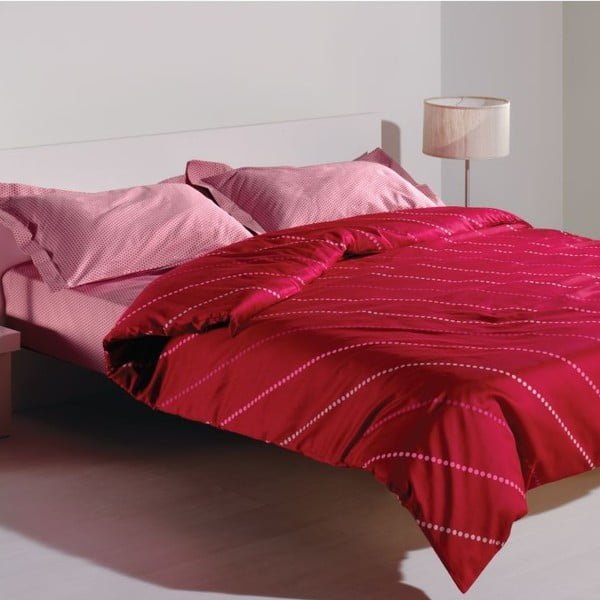 Pościel i prześcieradło Spotty Pink, 160x220 cm
