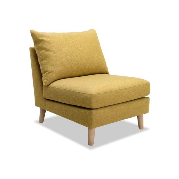 Żółty fotel VIVONITA Liam