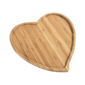Bambusowy półmisek Aminda Heart, szerokość 27cm