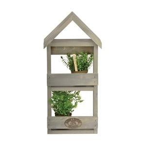Półka na kwiaty z drewna sosnowego Esschert Design, wysokość 46,5 cm