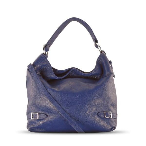 Skórzana torebka Audrey, niebieska