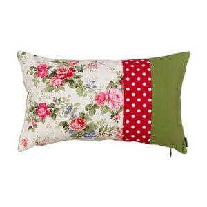 Poduszka z wypełnieniem Pink and Green Flowers
