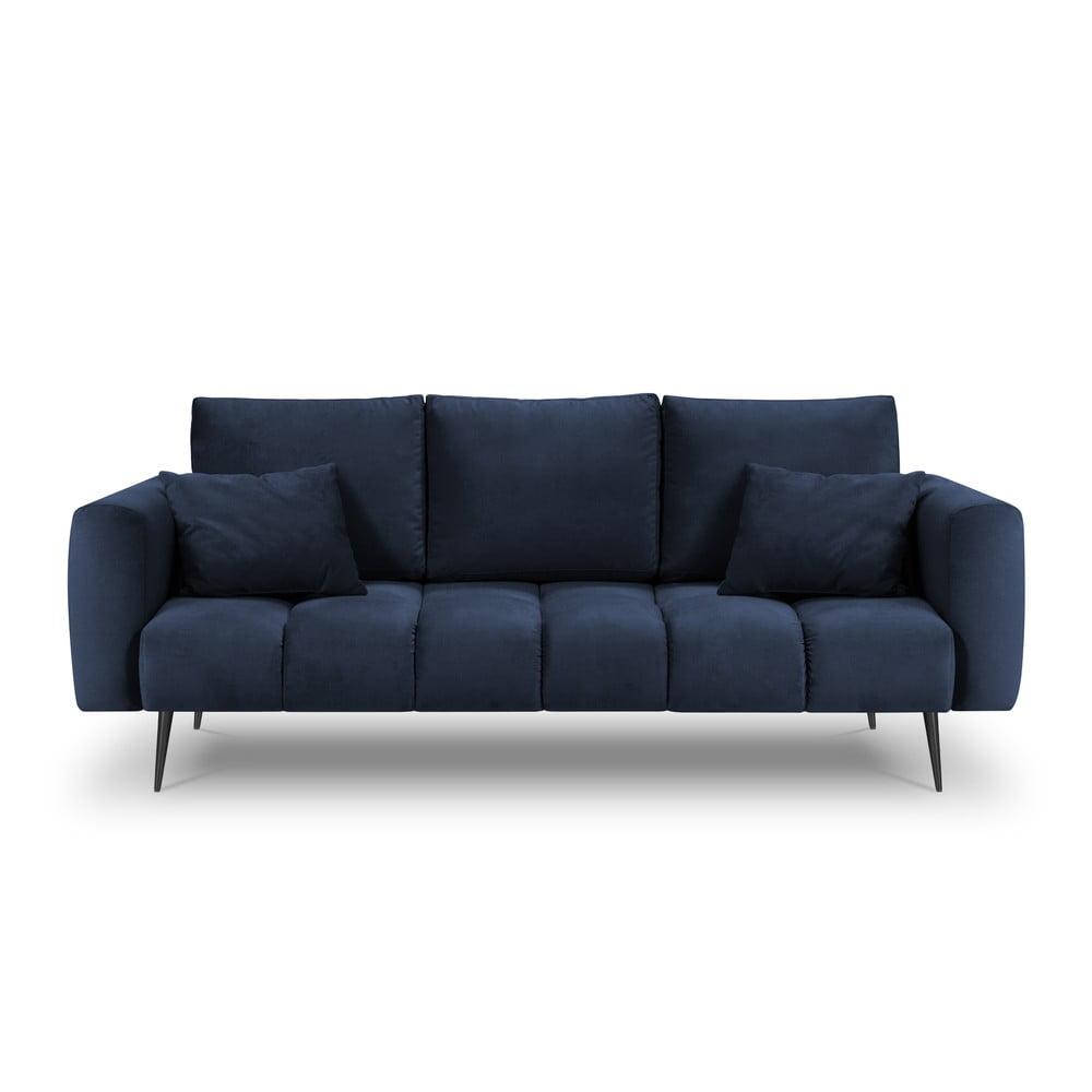 Granatowa sofa z aksamitnym obiciem Interieurs 86 Octave