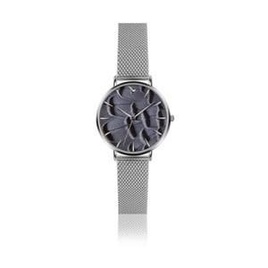 Zegarek damski z szarą bransoletką ze stali nierdzewnej Emily Westwood