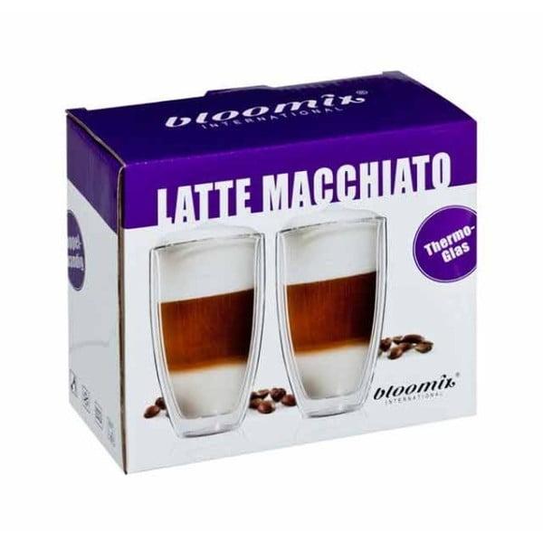 Zestaw 2   dużych kubków na latte macchiato bloomix Roma