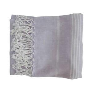Fioletowy ręcznie tkany ręcznik z bawełny premium Sultan,100x180 cm
