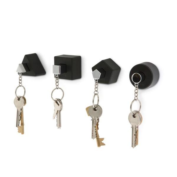 Wieszak na klucze Shape, czarny