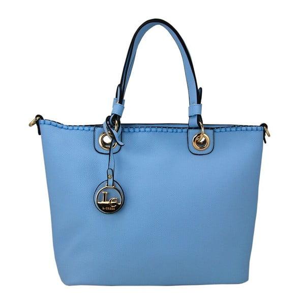 Skórzana torebka Ginny Light Blue