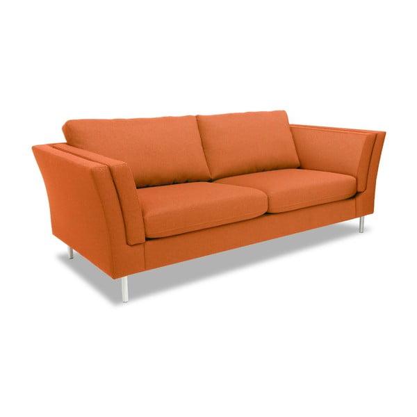 Pomarańczowa sofa dwuosobowa VIVONITA Connor