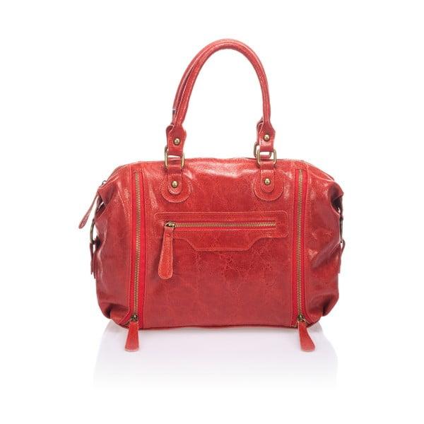 Skórzana torebka Kiara, czerwona