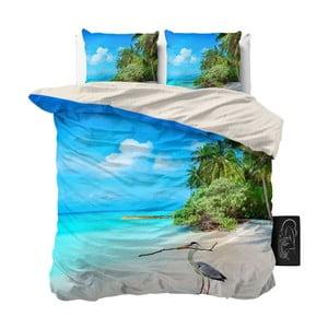 Pościel jednoosobowa z mikroperkalu Sleeptime Beach, 160x200 cm