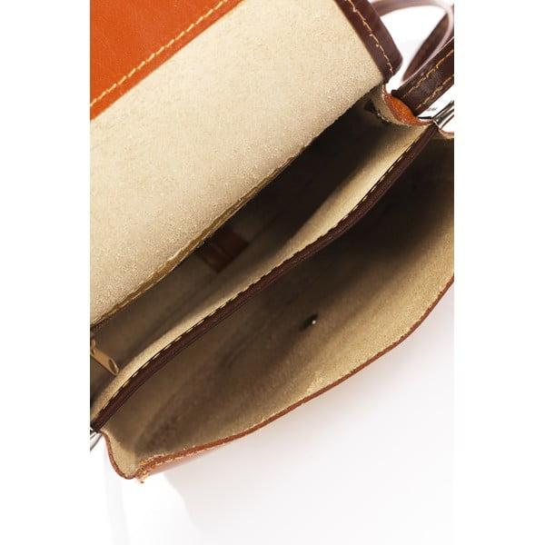Koniakowa torebka skórzana Lisa Minardi Laura