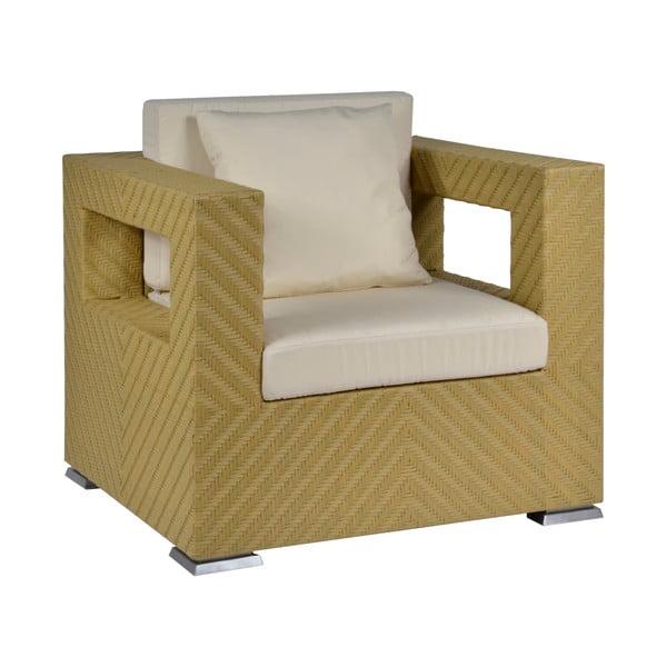 Fotel ogrodowy z poduszką Cuscino Ecru