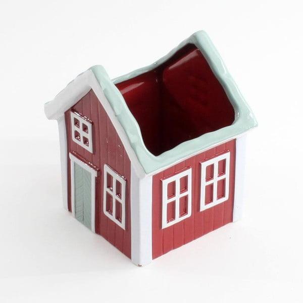 Ceramiczny pojemnik House Red