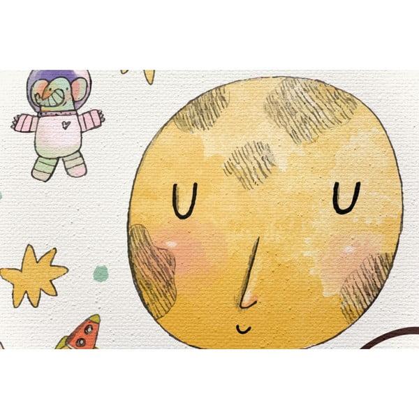 Obraz na płótnie Little Nice Things Love You to the Moon, 50x70 cm