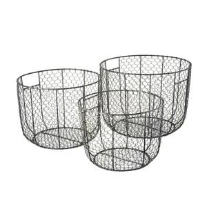 Zestaw 3 drucianych koszyków Parlane Mohali