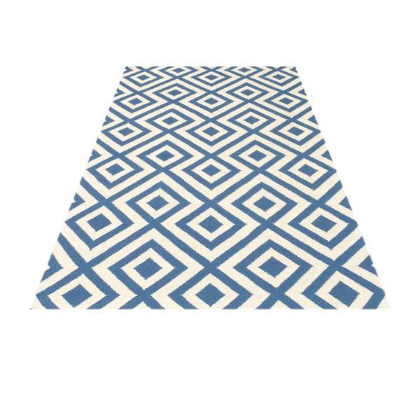 Dywan wełniany Luisa Middle Blue, 180x120 cm
